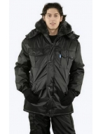 """Куртка """"Охранник"""" удлиненная черная"""