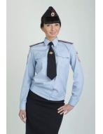 Женская блузка, с д/р на резинке, голубая