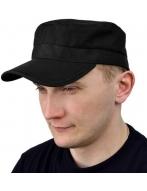 Кепка на застежке (черный)