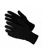Перчатки  полушерстяные,  двойные,  черные, арт.С74616