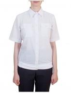 Женская блузка, с коротким рукавом на резинке, (белая)