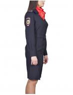 Платье Полиция с платком, с длинным рукавом (габардин)