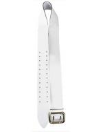 Ремень поясной с анодированной пряжкой (белый)