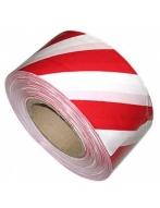 Лента оградительная (75мм*250м.красн./бел.)