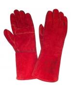 Краги спилковые красные усиленные 2Hands T59 разм. 10,5