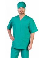 Костюм Хирурга с отложным воротником тк.тиси, цв.зеленый