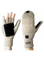 Перчатки-варежки со спилковыми накладками